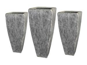 Screen Gems Sandstone Ribbed Long Square Planter SGS3105-3107