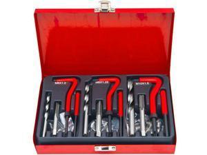 Biltek® 89pc Professional Thread Repair Rethread Kit Restoring Damaged Threads M6 M8 M10