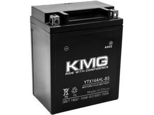KMG® YTX14AHL-BS Battery For Yamaha 480 VT480 Venture GT 1992-1993 Sealed Maintenace Free 12V Battery High Performance SMF OEM Replacement Powersport Motorcycle ATV Snowmobile Watercraft