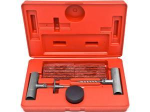 Biltek® 36 Pc Tire Repair Tool Kit Case Plug Patching Tubeless Tires Insert Spiral Hex