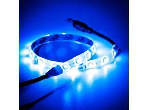Biltek® 1' Foot Blue  18 LEDs LED Expansion Strip Lighting Light SMD 3528 Blue - LED Strip Lighting Expansion for Bedrooms Bathrooms Garage Kitchen Living Room Offices Vehicles Waterproof Flexible