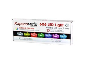 KapscoMoto Motorcycle 7 Color LED Accent Light Kit Remote For Vespa GTS GTV 250 300