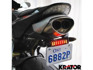 Krator® Dyna Glow Integrated LED Taillight Strip Signals For Vespa LX GTS GTV 250 Sprint Sport Rally