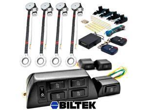 Biltek® 4x Door Car Power Window + Keyless Door Unlock Kit For Toyota Matrix Prius RAV4 Supra Tacoma Wagon Yaris