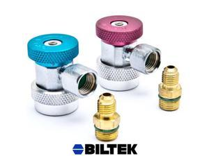 Biltek® Air Condition Manifold Refrigerant Quick Coupler Adapters High & Low R134A Adjustable