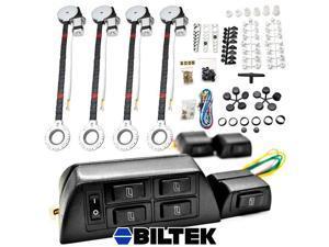 Biltek® 4x Car Window Automatic Power Kit Electric Roll Up For International / Mitsubishi LoneStar M1400 Metro II