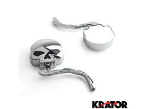 Krator® Custom Rear View Mirrors Chrome Pair w/Adapters For Harley Davidson XL 883 Hugger Sportster