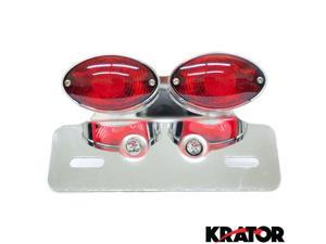 Krator® Cateye License Plate Tag Taillight Brake Light For Vespa LX GTS GTV 250 Sprint Sport Rally