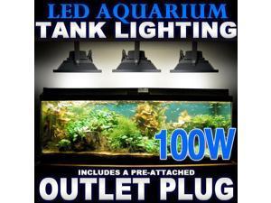 Biltek® 100W LED Aquarium Flood Light COOL White High Power Fish Tank Lighting Reef Plant D?cor Salt Fresh H2O Main Lighting, Sub Lighting, Fresh Water Tanks, Salt Water Tanks