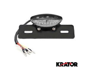 Krator® Custom LED License Plate Taillight Turn Signals For Vespa LX GTS GTV 250 Sprint Sport Rally