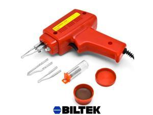 Biltek® NEW 7pc Soldering Gun Kit w/Case Iron Solder 100W Professional Style Flux Solder