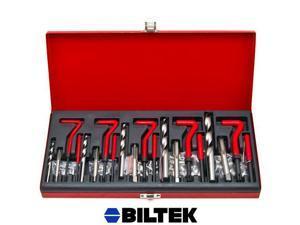 Biltek® 131pc Professional Thread Repair Re-Thread Kit Restoring Damaged Threads M5-M12