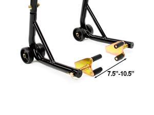 Venom Motorcycle Front+Rear Paddle Wheel Lift Stand For Yamaha YZFR1 R1S YZF R1
