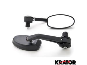 "Krator Black Bar End Rear View Mirrors Handlebars 7/8"" For Vespa GTS GTV 250 300"