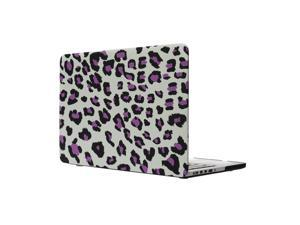 "Coosybo hard Rubberized Cover Protective Case for 15.4 inch Mac Macbook 15"" Pro with CD-ROM (15"" Pro with CD-ROM (Model:A1286), Leopard-Purple)"