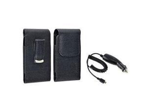 For Samsung Infuse 4G i997 Black Leather Case Cover+Charger New