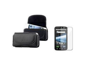 Premium Leather Case Cover Pouch+LCD Screen Protector For Motorola Atrix 4G New