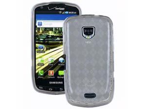 Fosmon TPU Checker Design Protector Case Skin for Samsung Droid Charge Grey