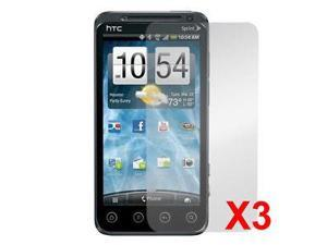 3 pcs Glossy & Clear Screen Protector Film for Sprint HTC EVO 3D