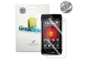 3 Pcs HD MERE Clear LCD Screen Protector Guard Cover For Motorola Droid 4 XT894