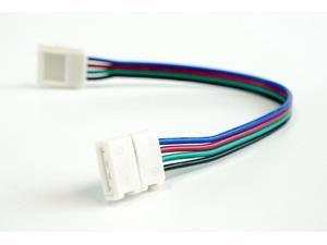 HitLights 5050CONNTWRGB LED Strip-to-Strip Connector - For Indoor Color Changing Strip Lights - Any Angle - 4 pack