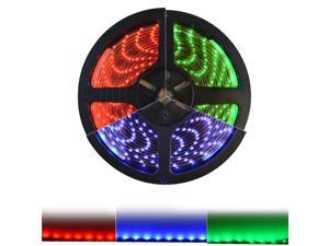 HitLights Weatherproof LED Light Strip - Red SMD 3528 - 300 LEDs, 16.4 Ft Roll - 12V DC - 82 Lumens / 1.5 Watts per Foot - IP-65 - Adhesive Backed for Easy Installation - LED Tape Light