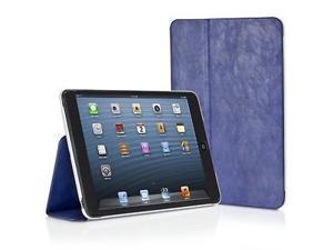 Xtrememac Microfolio Blue Distressed Leather Folio Case for iPad Mini