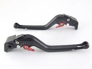 Custom Logo Carbon Long Levers for Suzuki GSX1400    Black