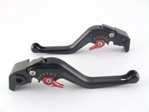 Custom Logo Carbon Short Levers for Honda CBR600F/CBR650F    Black