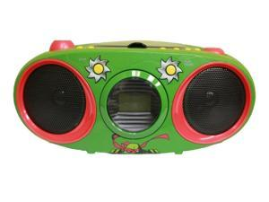 TEENAGE MUTANT NINJA TURTLES CD221NT CD Boombox with Stereo Radio (Green) - New
