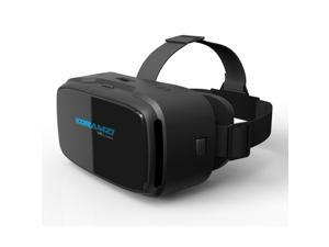 KORAMZI VR 3D Glasses Virtual Reality Headset/ VR goggles for any 4-6 inch Smartphones iPhone 6s 6 Plus Samsung Galaxy series (Black)