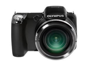 OLYMPUS SP-720UZ Digital Camera (Black) - Refurbished