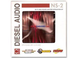 DIESEL AUDIO NS-2 High Power Car Audio Amplifier Installation Kit (Red) - New