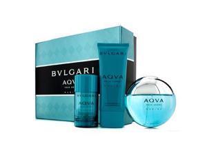 Aqva Pour Homme Marine Coffret: Eau De Toilette Spray 100ml/3.4oz + Deodorant Stick 75g/2.7oz + After Shave Emulsion 100