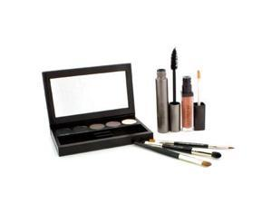 Classic Smoky Eye Palette Collection (1xMascara 1xLip Glace 1xCake Eye Liner 4xEye Colour 3xBrush) - 10pcs