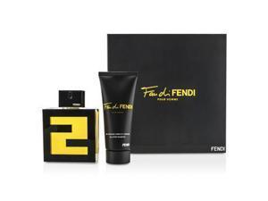 Fan Di Fendi Pour Homme Coffret: Eau De Toilette Spray 100ml/3.3oz + All Over Shampoo 100ml/3.3oz - 2pcs