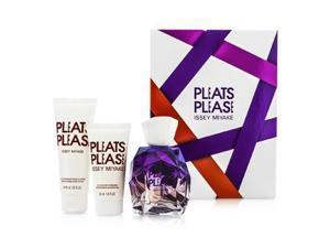 Pleats Please Coffret: EDP Spray 100ml/3.3oz + Body Lotion 75ml/2.5oz + Shower Gel 50ml/1.6oz - 3pcs