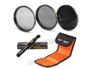 K&F Concept 58mm ND2 ND4 ND8 Neutral Density ND Lens Filter Kit For Canon EOS T5I T3I T4I 500D 600D 400D 550D 650D 450D 350D 100D 700D 600D 1100D 18-55mm + Cleaning Pen + Shockproof Bag