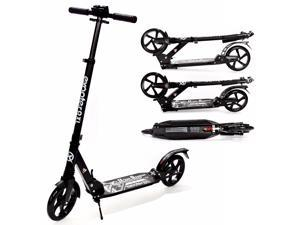 EXOOTER M1350BK Adult Cruiser Kick Scooter With Suspension Shocks - Black