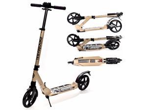 EXOOTER M1350BZ Adult Cruiser Kick Scooter With Suspension Shocks - Bronze