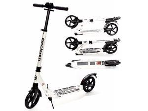 EXOOTER M1350WT Adult Cruiser Kick Scooter With Suspension Shocks - White