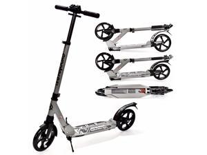 EXOOTER M1350CH Adult Cruiser Kick Scooter With Suspension Shocks - Charcoal