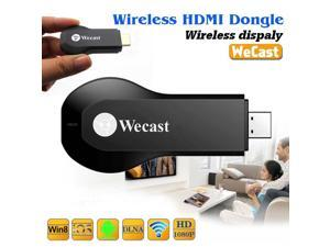 Wecast Wireless HDMI Dongle Wireless Display Receiver Full HD 1080P TV Stick Miracast/Airplay/DLNA  Support Pushing The Local Content to TV Through IOS/Android/Windows System Devices