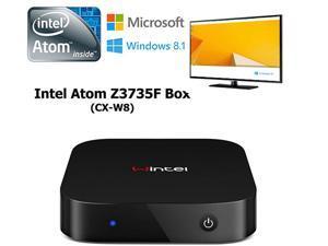 CX-W8 Windows 8.1/Android 4.4 Quad Core TV Box Smart Mini PC & Media Streaming Player Atom Z3735F Dual Wifi 2.4G/5G 2GB RAM/32GB ROM HDMI,Black