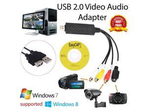 EasyCap Video DVR USB 2.0 Video Adapter USB 2.0 Capture Card Video TV DVD VHS Audio Capture Card 3 in 1 VHS to DVD Adapter Converter PC PS3 XBOX for win 7 8 32 64
