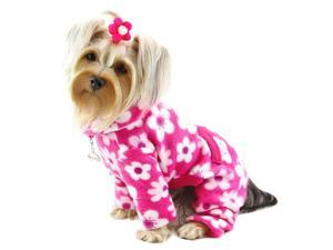 Full Blossom Fleece Turtleneck Pajamas