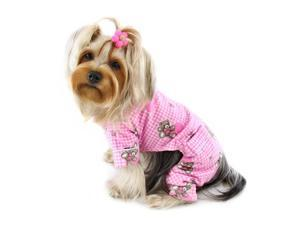Adorable Teddy Bear Love Flannel PJ (Pink)
