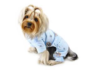Adorable Teddy Bear Love Flannel PJ  (Light Blue)