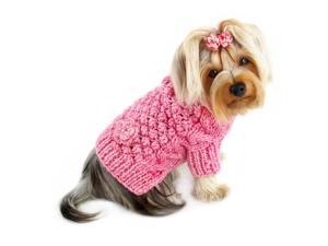 Pink Bobble Stitch Turtleneck Sweater