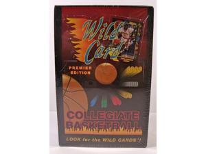 1991-92 Wild Card Collegiate Basketball Wax Box Sealed Premier Edition New